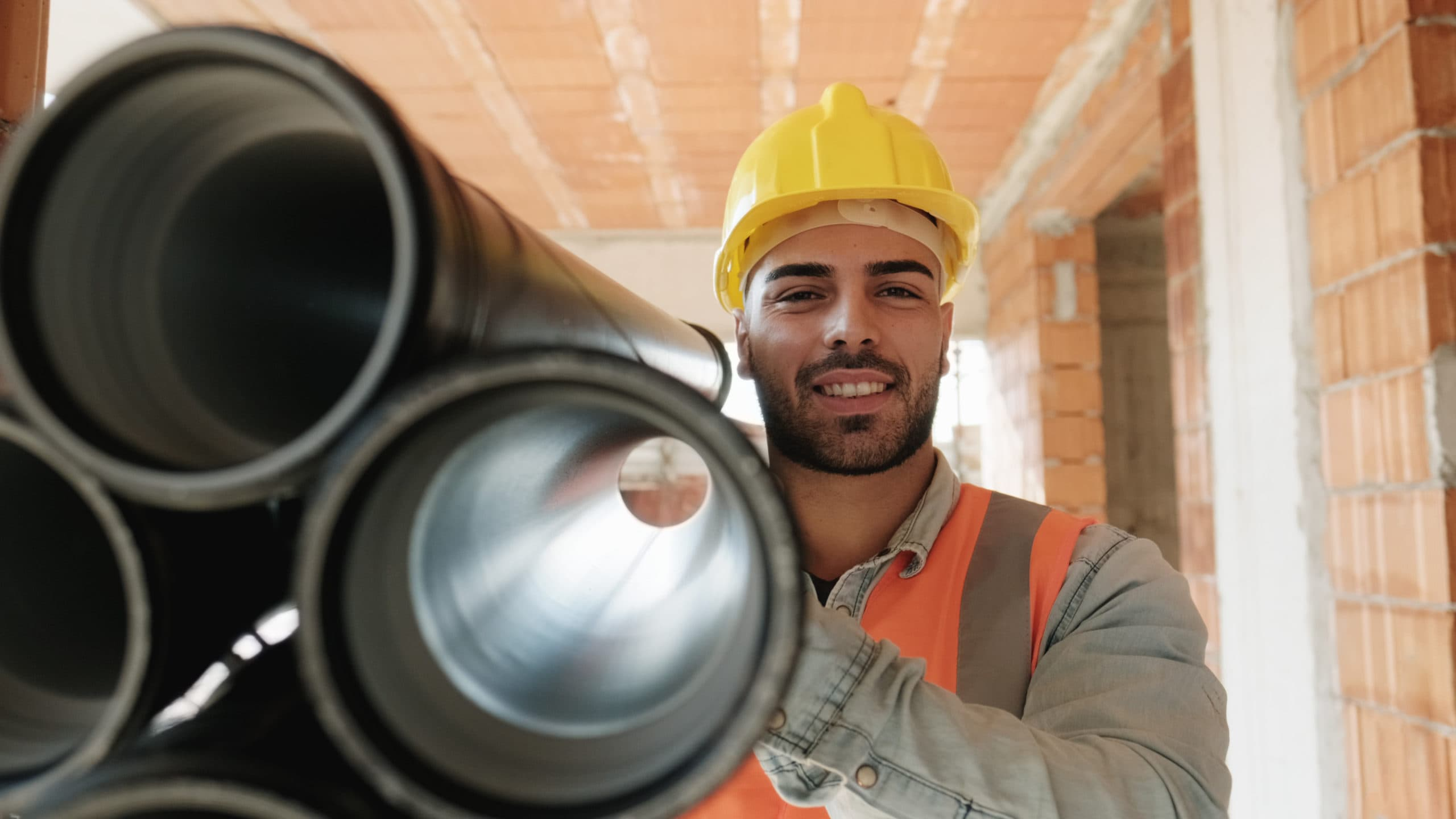 Proud,People,Working,In,Construction,Site.,Portrait,Of,Happy,White